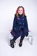 Детский кардиган для девочки BRUMS Италия 133BGAA005 синий с малиновым 122