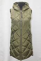 Теплая женская удлиненная жилетка Фабричный Китай супер качество 42р-50р, фото 1