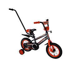 """Детский велосипед Crosser Sports 12"""" c родительской ручкой. Распродажа! Оптом и в розницу!"""