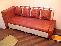 Лавочка Комфорт со спальным местом и с выдвижной нишей «карго».