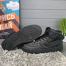 Кроссовки женские в стиле Nike Air Force черные, фото 3