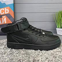 Кроссовки женские в стиле Nike Air Force черные, фото 2