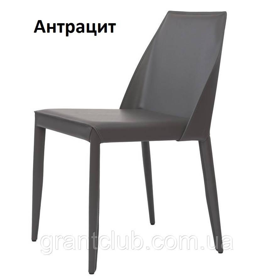Обеденный кожаный стул MARCO (Марко) серый антрацит Concepto (бесплатная доставка)