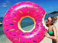 Надувной круг Пончик Pink 120 см
