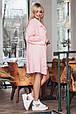 Молодежный вязанный кардиган Мохито розовый (44-52), фото 4