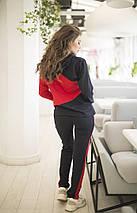"""Женский трикотажный спортивный костюм """"Кимми"""" с капюшоном и лампасами (5 цветов), фото 2"""