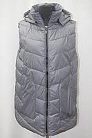 Теплая женская удлиненная жилетка Фабричный Китай большие размеры 48-58р., фото 1