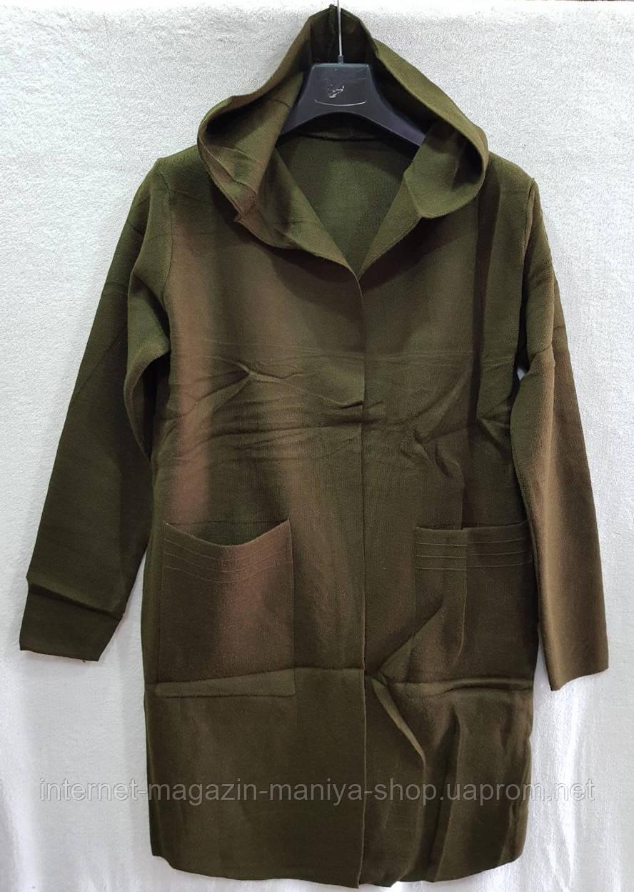 Кардиган женский карманы с капюшоном универсал 44-46 (деми)