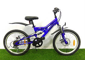 Детский двухподвесный велосипед Azimut Blackmount 20 GD. Распродажа! Оптом и в розницу!