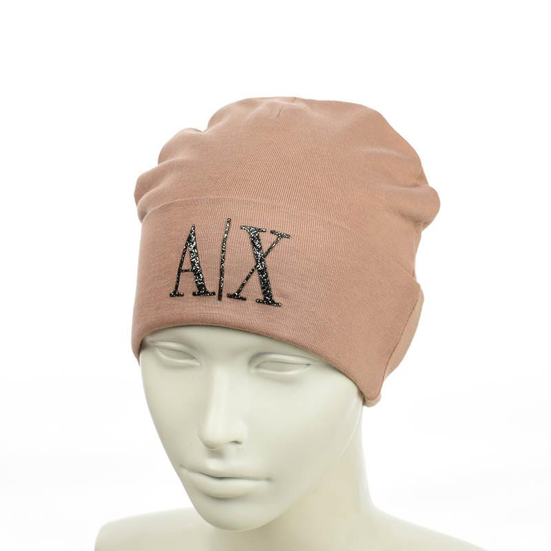 """Молодіжна шапка з трендовим патчем """"АХ"""""""