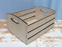 Ящик полосатый с овалом, 12х18х25см