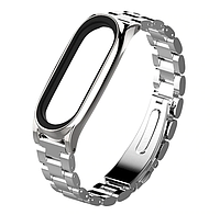 Металлический ремешок Primo Mijobs для фитнес-браслета Xiaomi Mi Band 3 - Silver, фото 1
