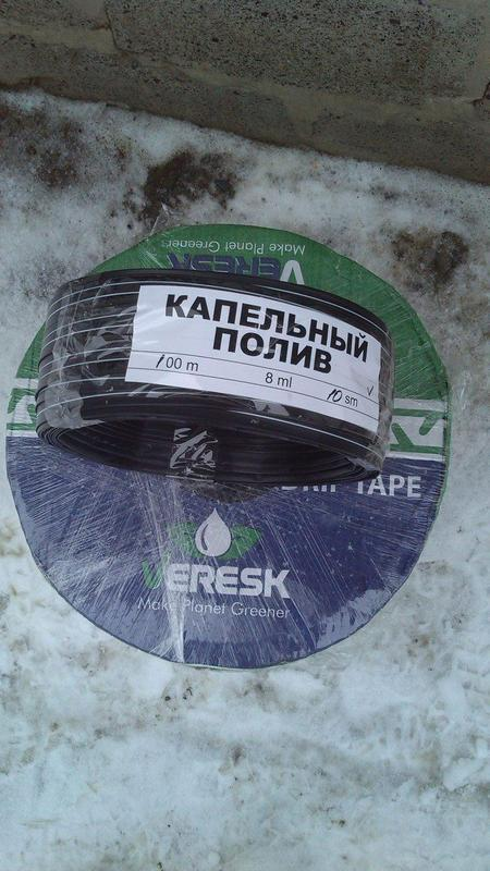 Капельная лента Veresk ( щелевая ) 10 см 1000/1300м Производство Иран