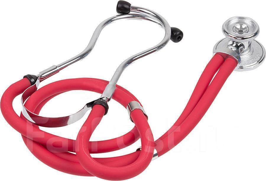 Стетоскоп КРАСНЫЙ Раппопорта стетофонендоскоп Little Doctor LD Special 56 см, 4 комбинаций