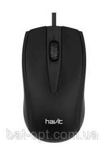 Мышь проводная Havit HV-MS871 USB черная