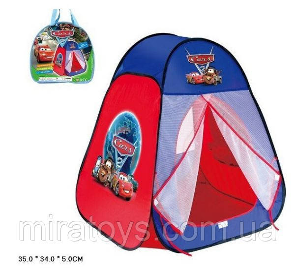 """Палатка 811S """"Тачки"""" в сумке 90*80*80 см"""