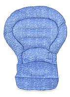 Чехол к стульчику для кормления Chicco Polly Magic 3 в 1 под голубой джинс, фото 1