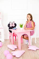 Столик Микки + стульчик Розовый SKU-4