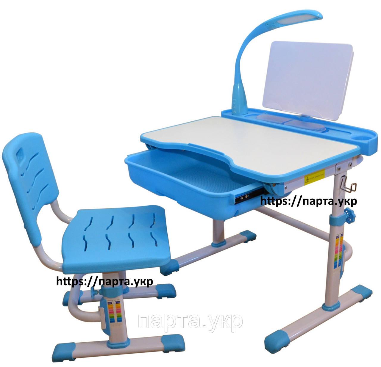 Комплект парта и стул, подставка и лампа