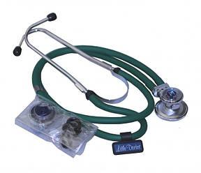 Стетоскоп ЗЕЛЁНЫЙ Раппопорта стетофонендоскоп Little Doctor LD Special 56 см, 4 комбинаций