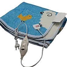 Электропростынь electric blanket 150*120 см sky blue електрична зігріваюча простирадло