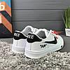 Кроссовки женские в стиле Nike Air белые с черным логотипом, фото 3