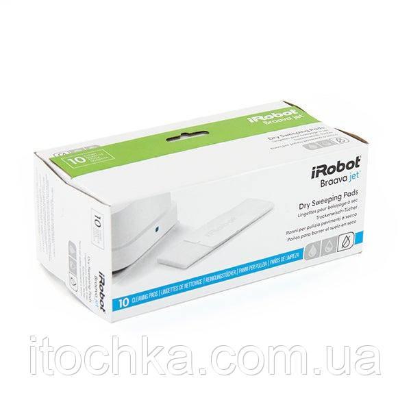 Сухие подметальные подушки iRobot® Braava jet® Dry Sweeping Pads, 10шт