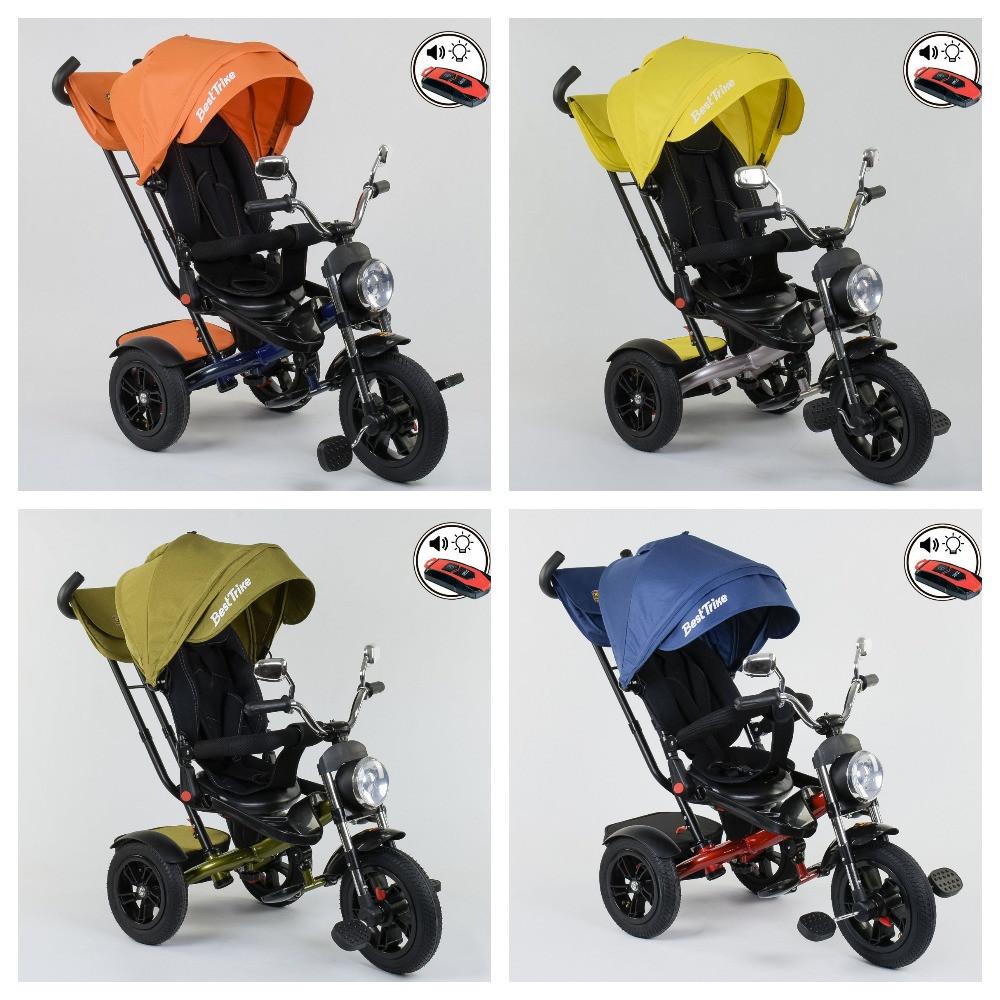 Велосипед 3-х колесный. 4490  Best Trike, Поворотное сидение, Складной руль, Рус.озвучка, Пульт, Свет,Звук