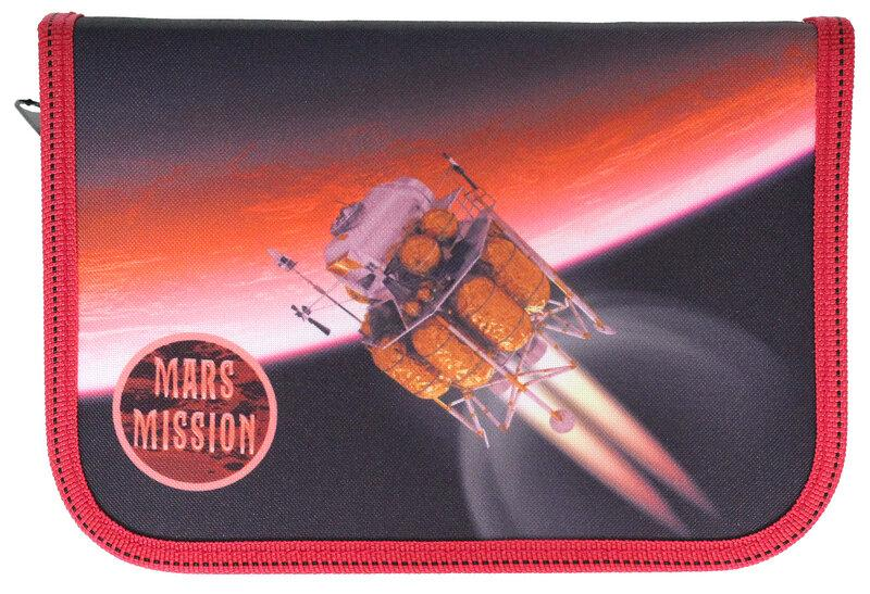 Пенал 1-ярусный.,пустой, «Mars»,210/70D PL, CLASS, арт. 99007