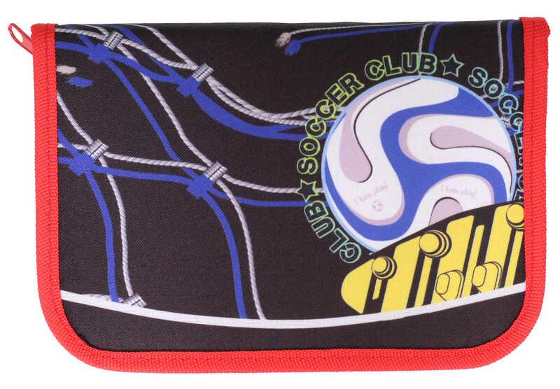 Пенал 1-яр з 1отв.,пустой, «Football»,210/70D PL, CLASS, арт. 99111