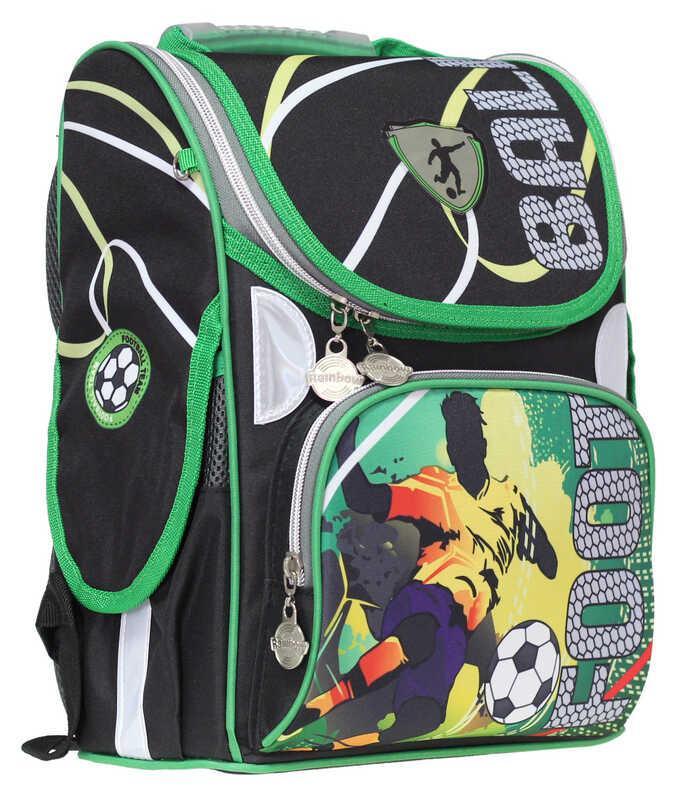 Ранец «Football»,2 отд.,34*26*13см,300D PL, RAINBOW, арт. 9-507