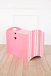 Ящик для іграшок Рожевий SKU-2