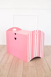 Ящик для игрушек Розовый SKU-2