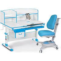 Комплект парта и кресло Evo-50 New голубой
