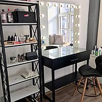 Гримерная станция, визажный стол с металлическими ножками