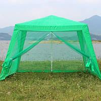 Павильон шатер с москитными сетками (ярко-зеленая полоса)