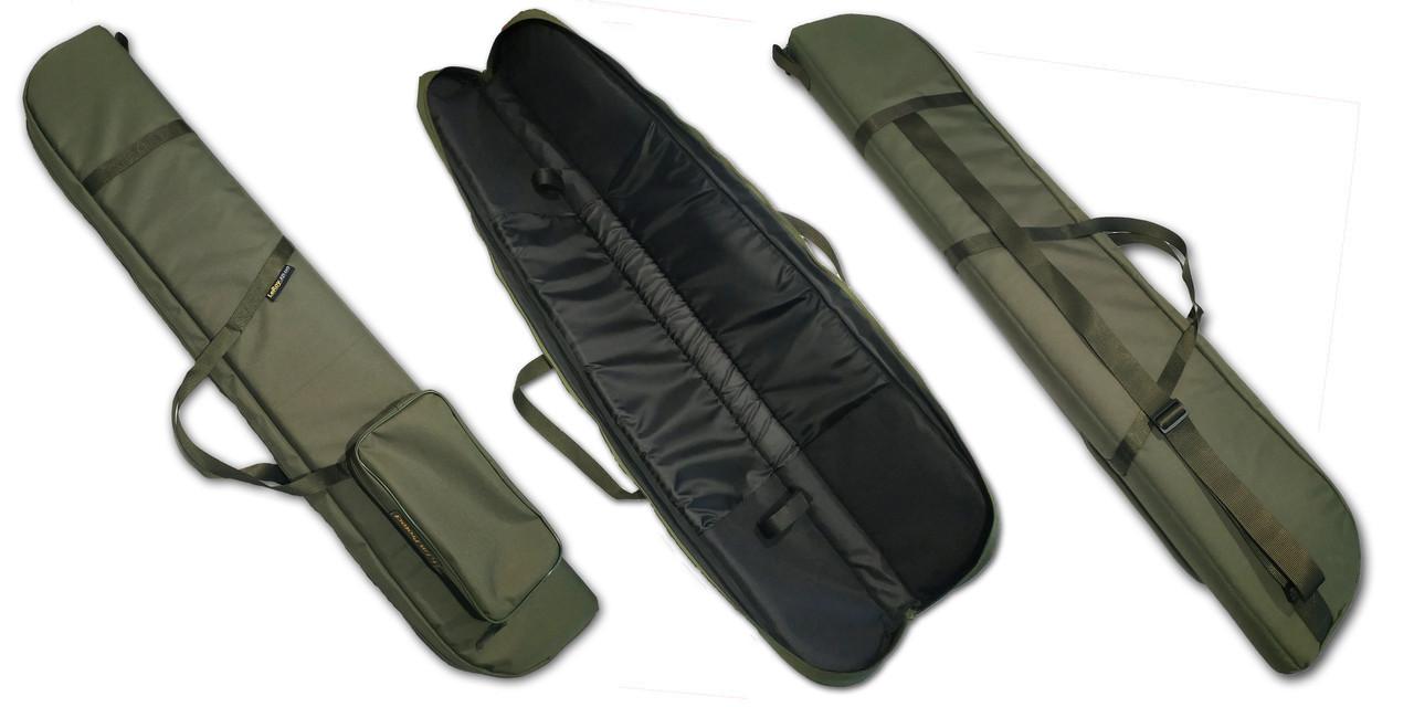Чехол для ружья без оптики LeRoy Protect (двойная защита) 1,3 м Олива