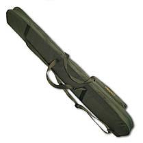 Чехол для ружья без оптики LeRoy Protect (двойная защита) 1,3 м Олива, фото 3