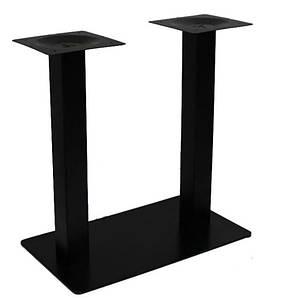 Опора для стола Рона, металл, крашенная, цвет черный, высота 72 см, основание 40х70 см