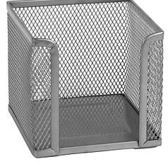 2112-03-A Куб для бумаги 100х100×100мм, металл, сереброAXENT