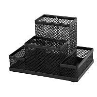 2117-01-АПодставка-органайзер 155x103x100мм металл, чернаяAXENT