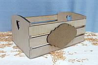 Ящик полосатый с сердечком и 2-мя накладками, 12х18х25см