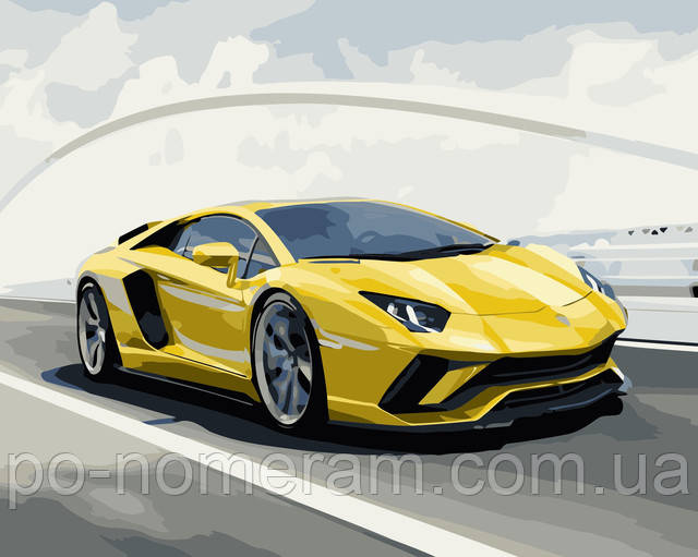 Картина по номерам Желтая стрела