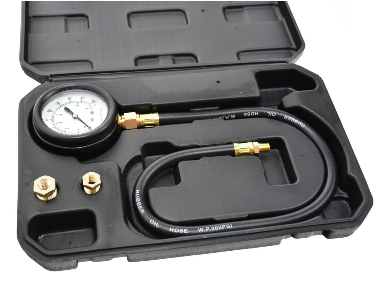 Манометр тестер для измерения давления масла в двигателе TU-12 GEKO G02505