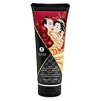 Shunga Kissable Massage Cream Sparkling Strawberry Wine съедобный массажный крем
