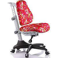 Кресло детское Mealux Match красное с цветами