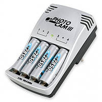 Зарядное устройство Ansmann PhotoCam III + 4 аккумулятора АА/R6 2850mAh