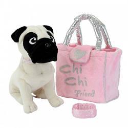 Собачка Chi Chi Love - Мопс 20см с сумочкой и браслетом, Simba 5+  (5895932)