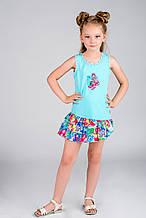 Детское платье для девочки Pezzo D'oro Италия K54018 Голубой