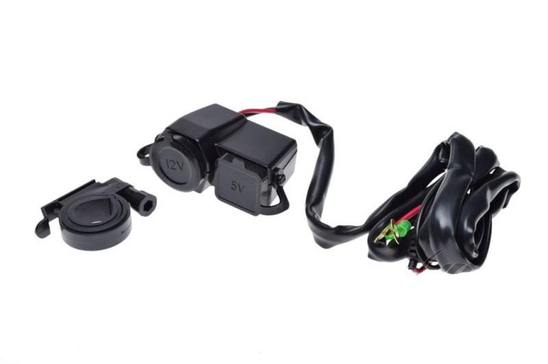 Гнездо USB и прикуриватель на руль AA9989B